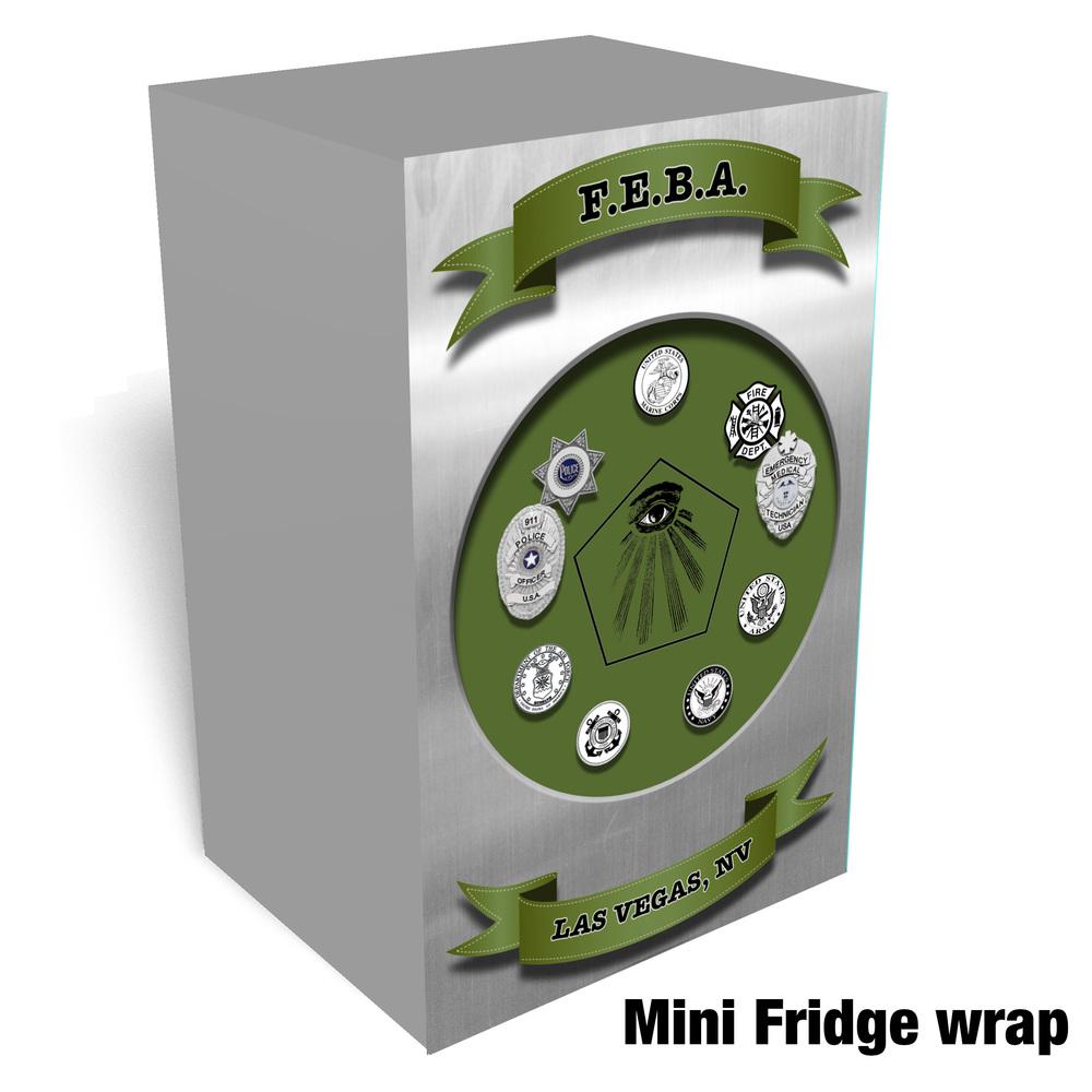 Patch Mini fridge wrap