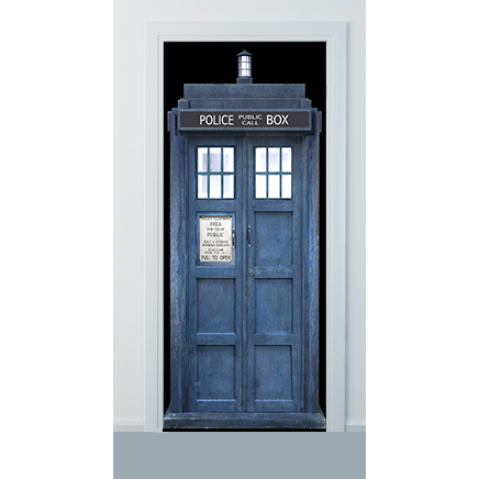 Taris Police box phonebooth door wrap