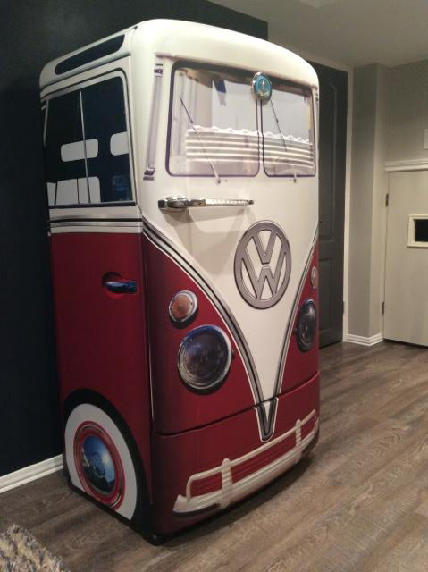 Vw bus refrigerator wrap