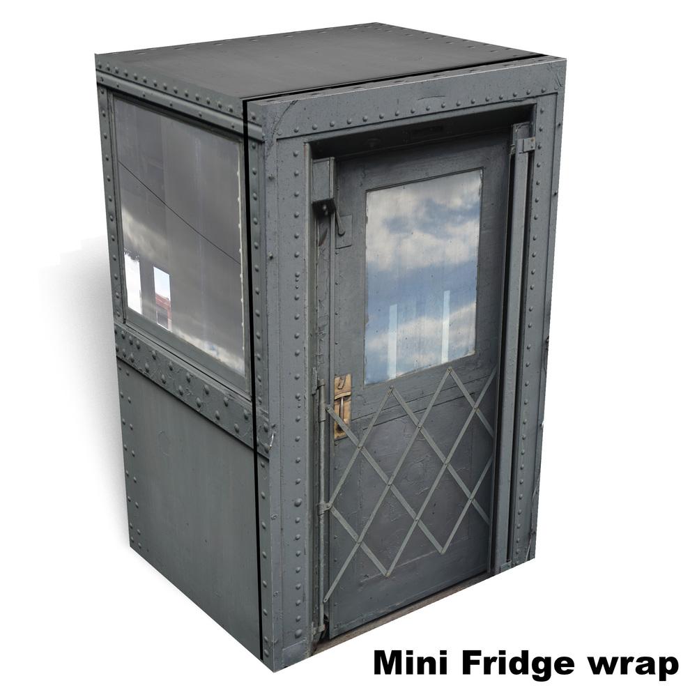 Passenger car mini fridge full wrap