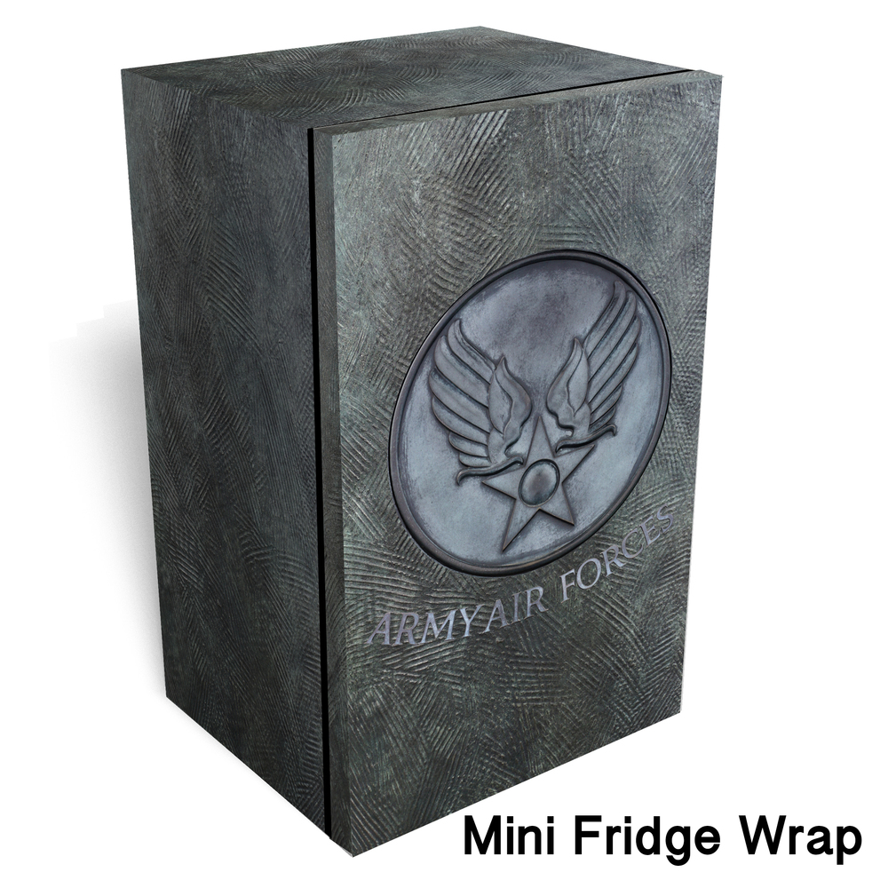 Army air forces Metal logo mini fridge wrap