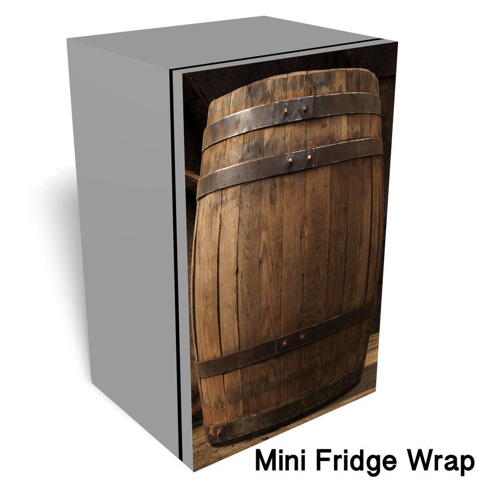 Barrel Mini Fridge Front wrap sticker