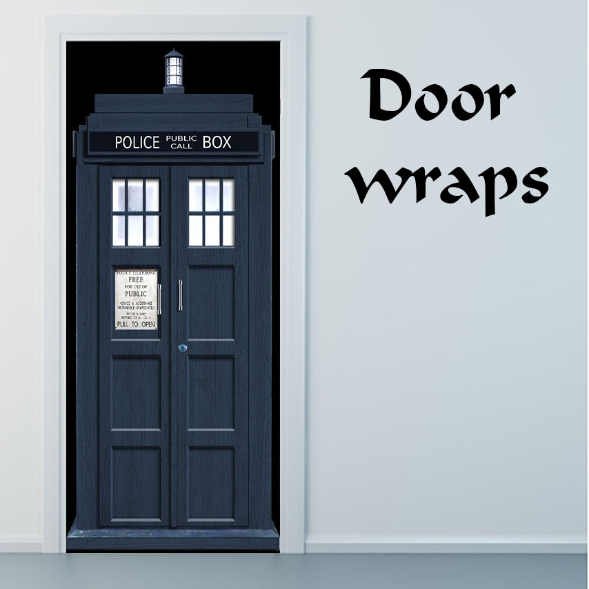 Wonderful Tardis Door Wrap