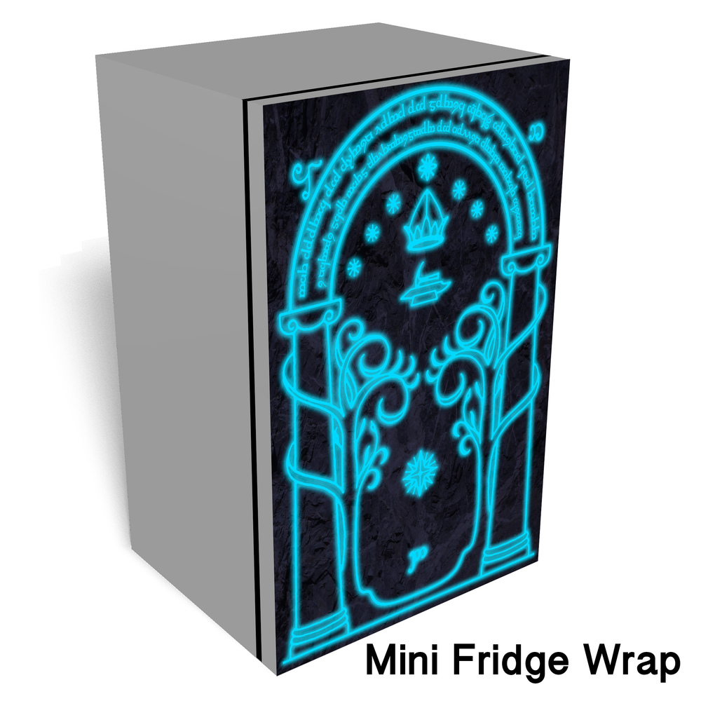 Moria door wrap Mini fridge wrap