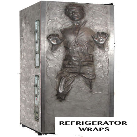 HAN SOLO CARBONITE mini fridge full wrap sticker