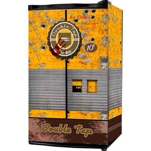 Double tap rootbeer mini fridge wrap