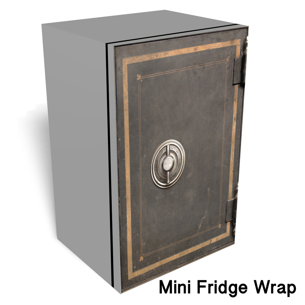 Vintage safe Mini fridge wrap