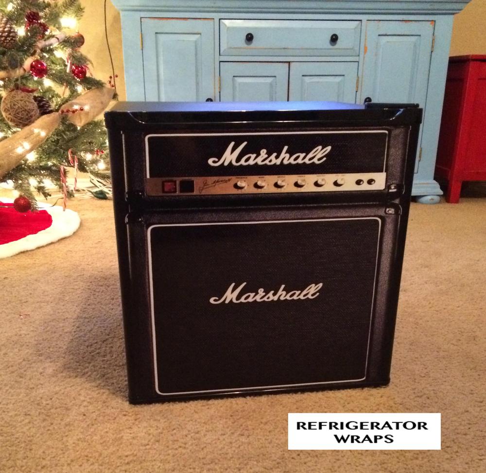 Marshall amp mini fridge wrap