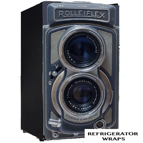 Rolleiflex camera mini fridge wrap stciker