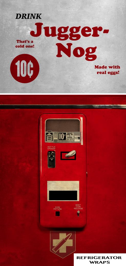 Juggernog Refrigerator Wrap Dirty Rm Wraps