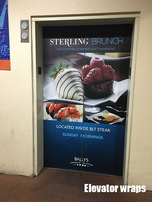 Elevator Door wrap Sterling