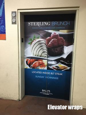 Elevator Door wrap Sterling