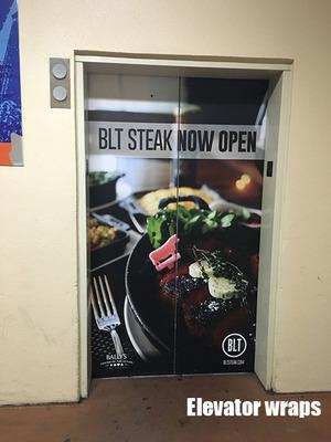 Elevator Door wrap BLT