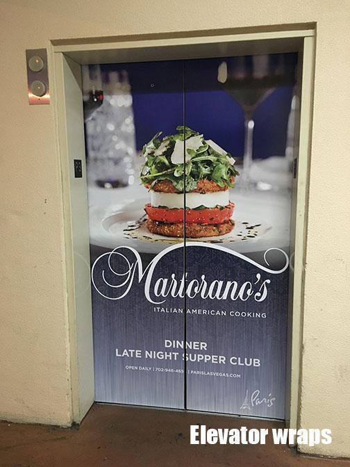 Elevator Door wrap Martorano's