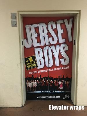 Elevator Door wrap Jersey boys