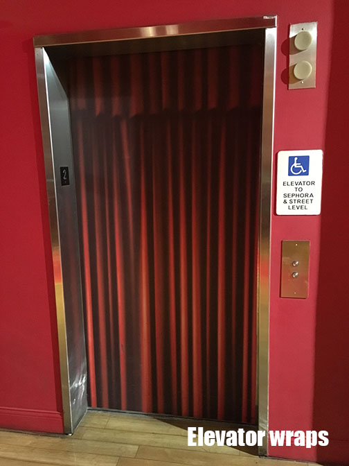 Elevator Door wrap red