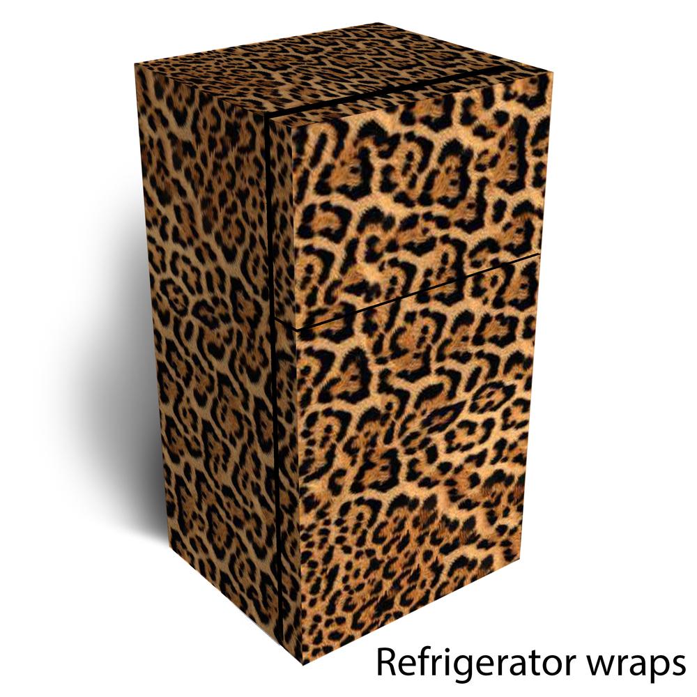 leopard skin refrigerator wrap