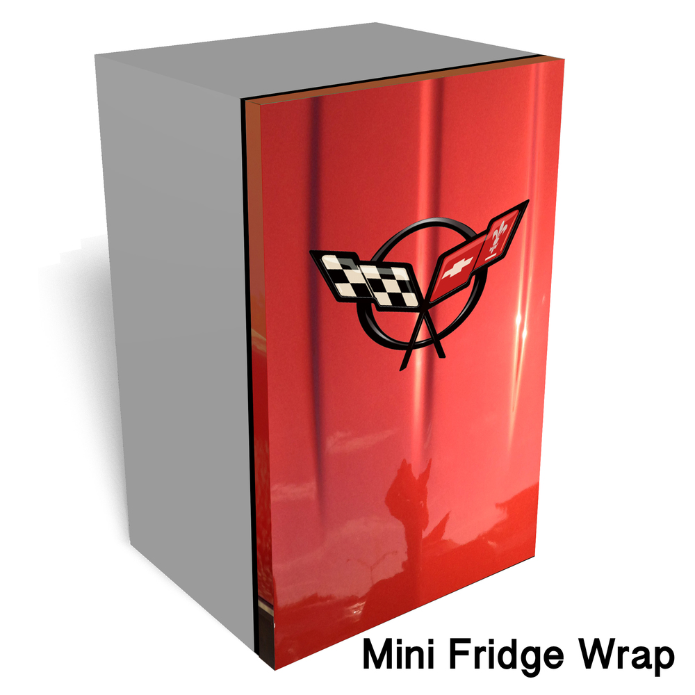 Corvette C5 Mini fridge wrap