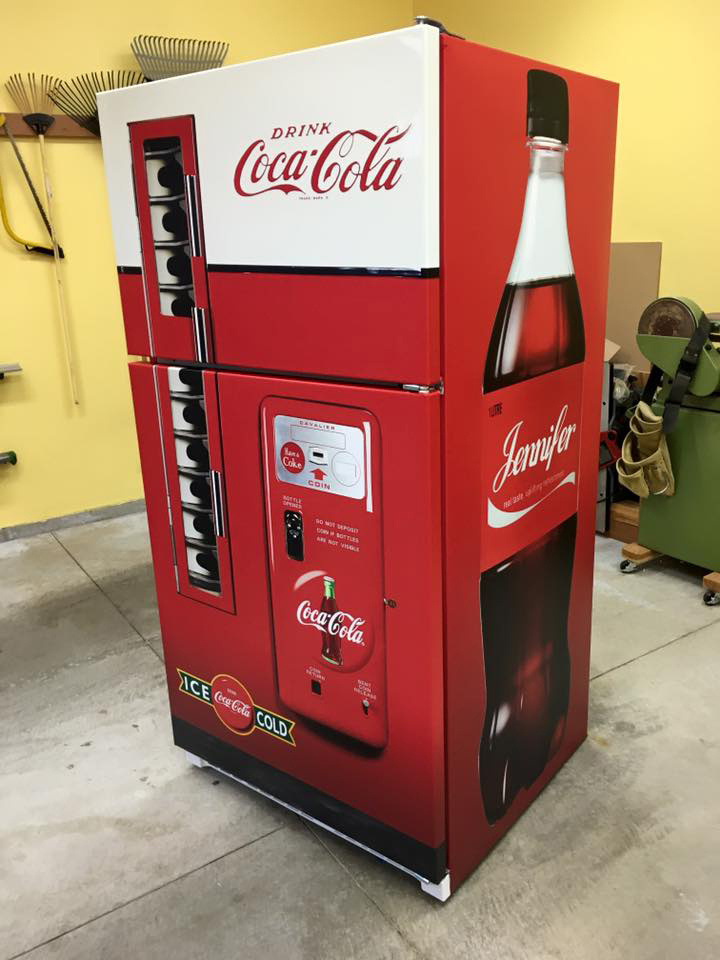 Coca Cola Vending machine Refrigerator wrap