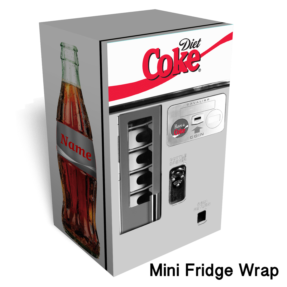 Diet coke vending machine Mini fridge wrap