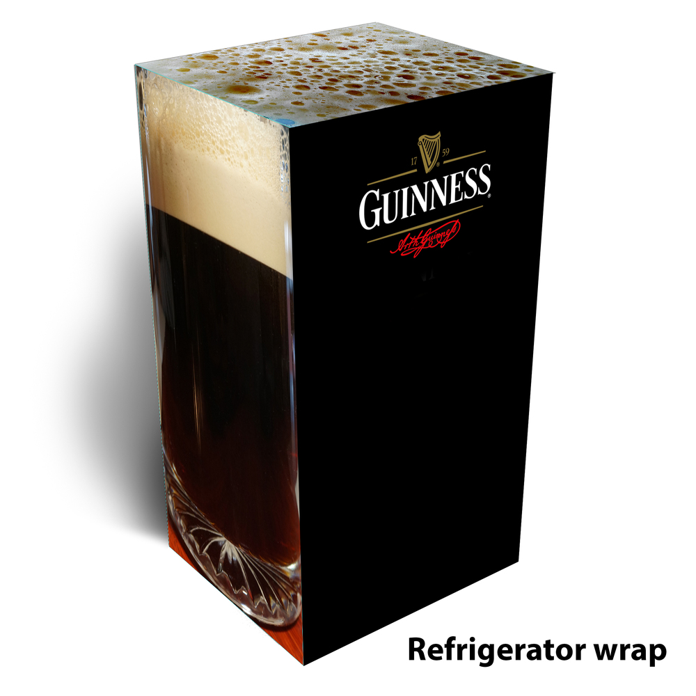 Guinness beer refrigerator wrap