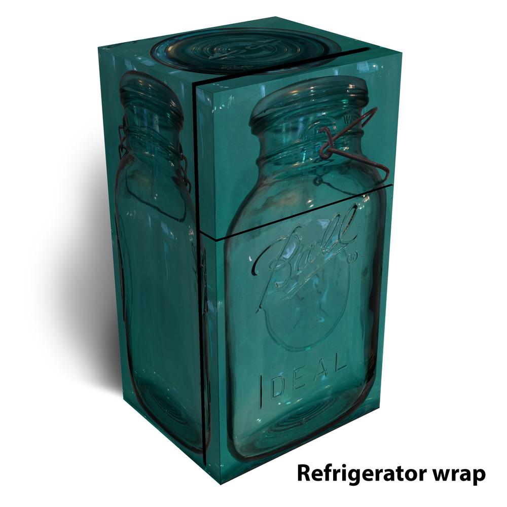 Ball vintage MASON JAR refrigerator wrap