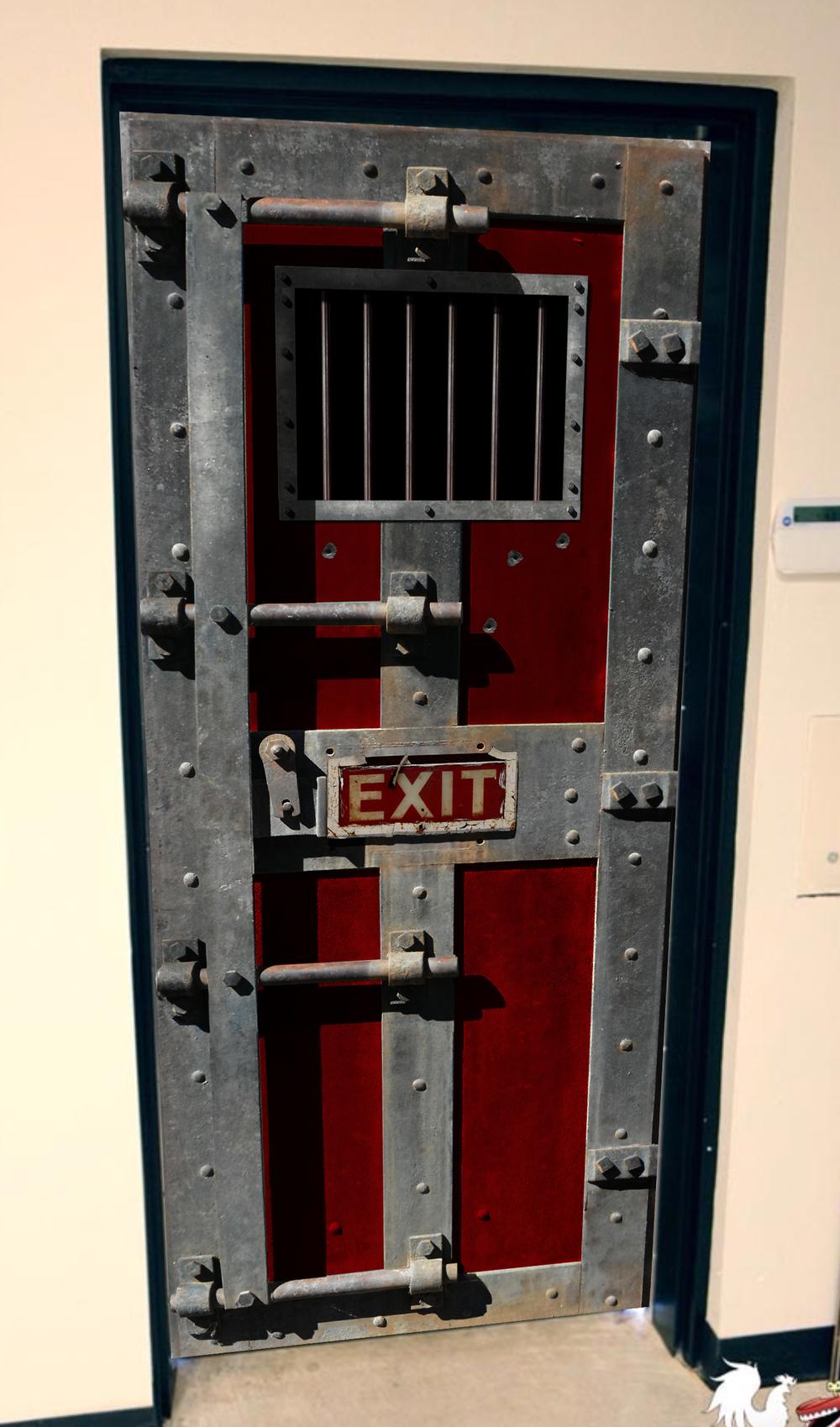 Halloween Jail Door door wrap & Halloween Jail Door door wrap \u2014 Rm Wraps