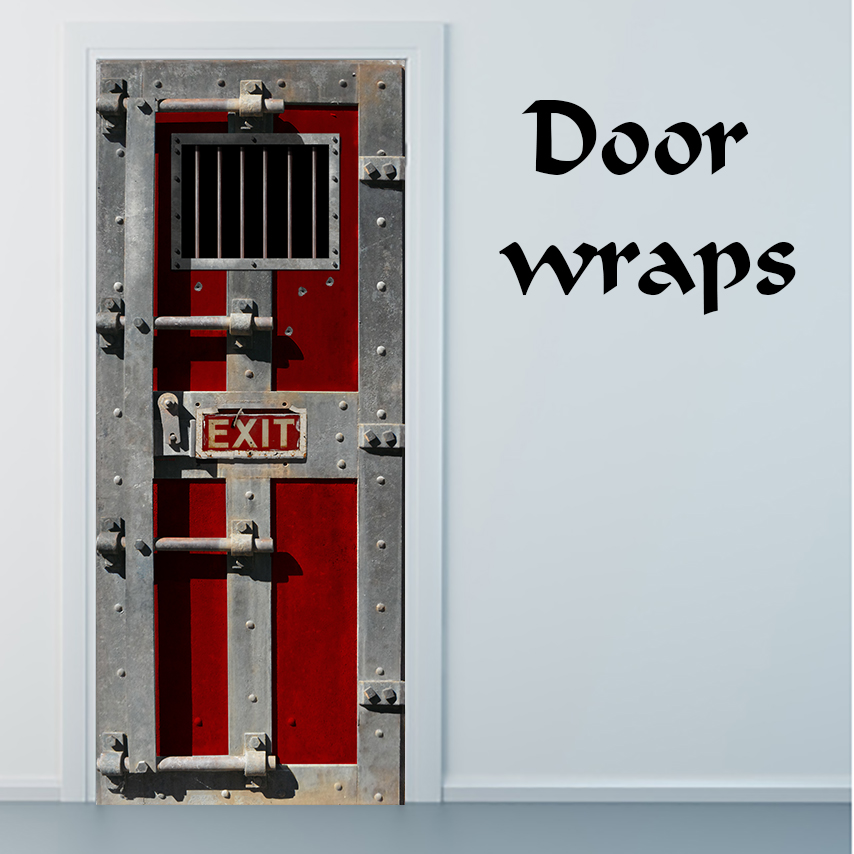 Jail Door Door Wrap