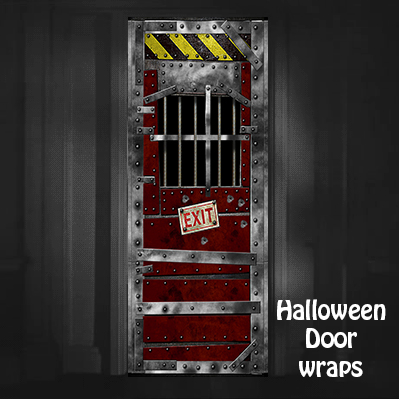 Halloween Jail Door wraps