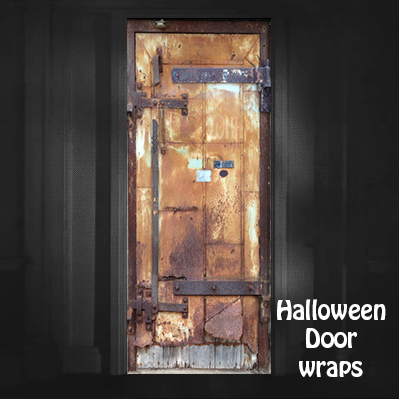 Halloween Metal Mill City Door Wrap