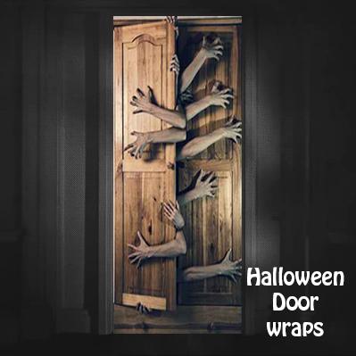 Halloween Escaping Door Wrap & Halloween Door wraps \u2014 Rm Wraps