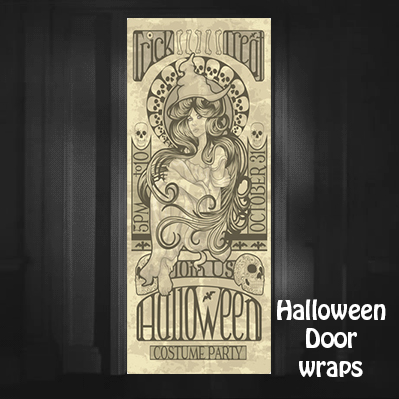 Halloween Trick or treat party Door Wrap