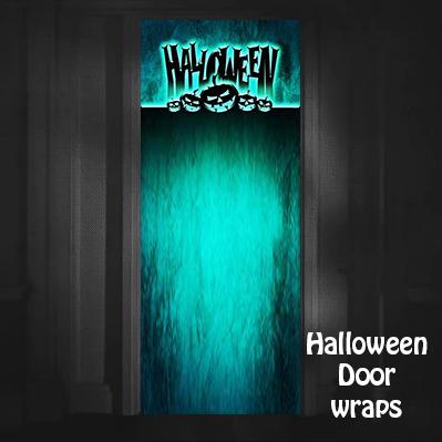 Halloween Jack-o-lantern Door Wrap