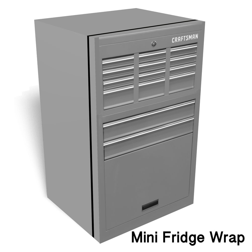 Craftsman toolbox mini fridge wrap rm wraps for Garage wraps