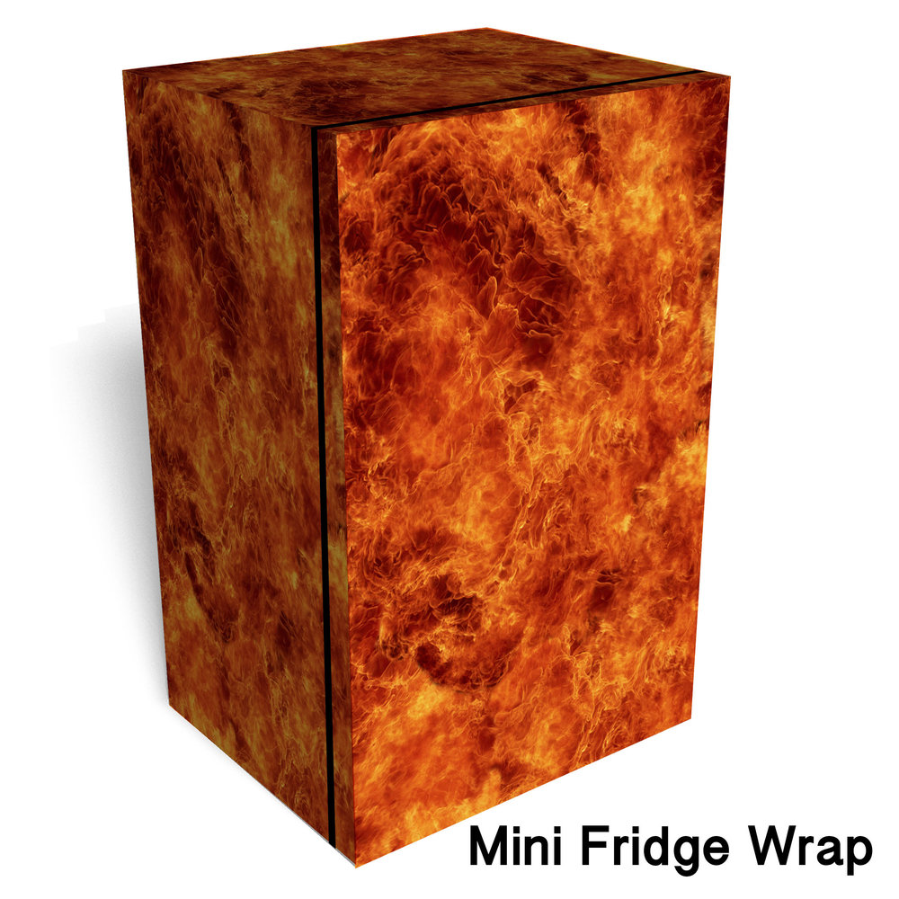 Flame wall Mini Fridge wrap Mini fridge wrap