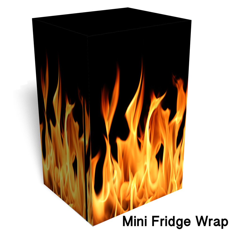 Flames Mini fridge wrap