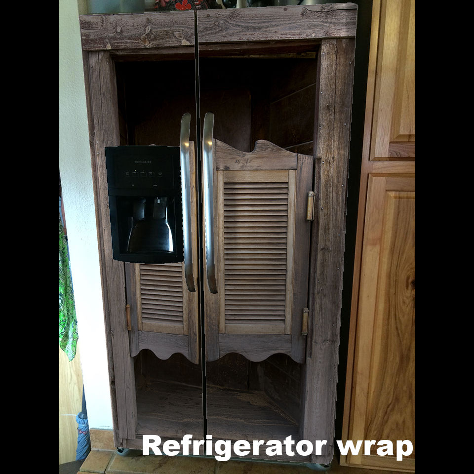 Saloon Door Side by Side Refrigerator Wrap