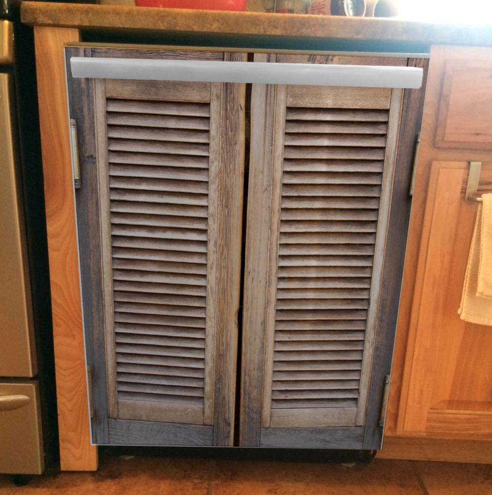Saloon Door Dishwasher Wrap, rm wraps, dishwasher cover, dishwasher magnet