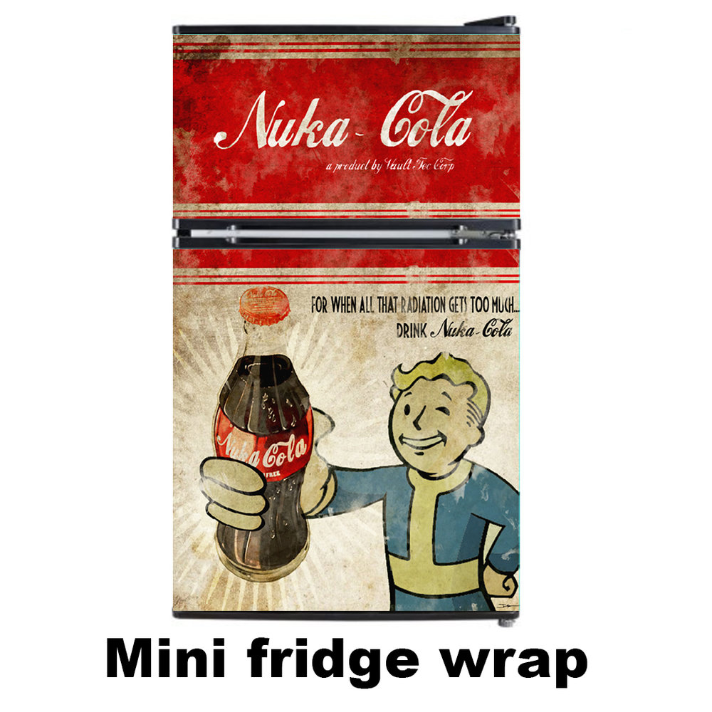 Nuka Cola 2 door Mini Fridge wrap
