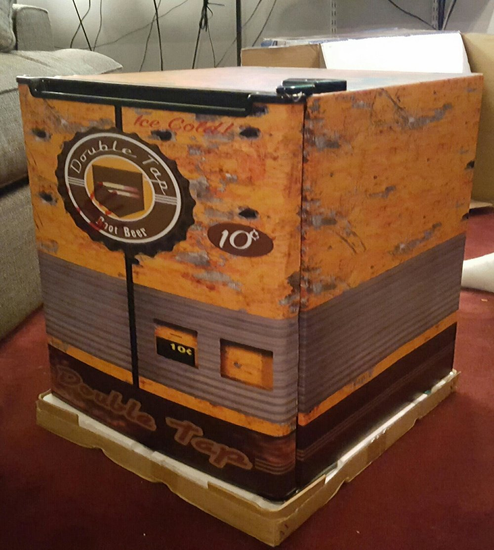 CALL OF DUTY DOUBLE TAP ROOT BEER FULL MINI FRIDGE WRAP