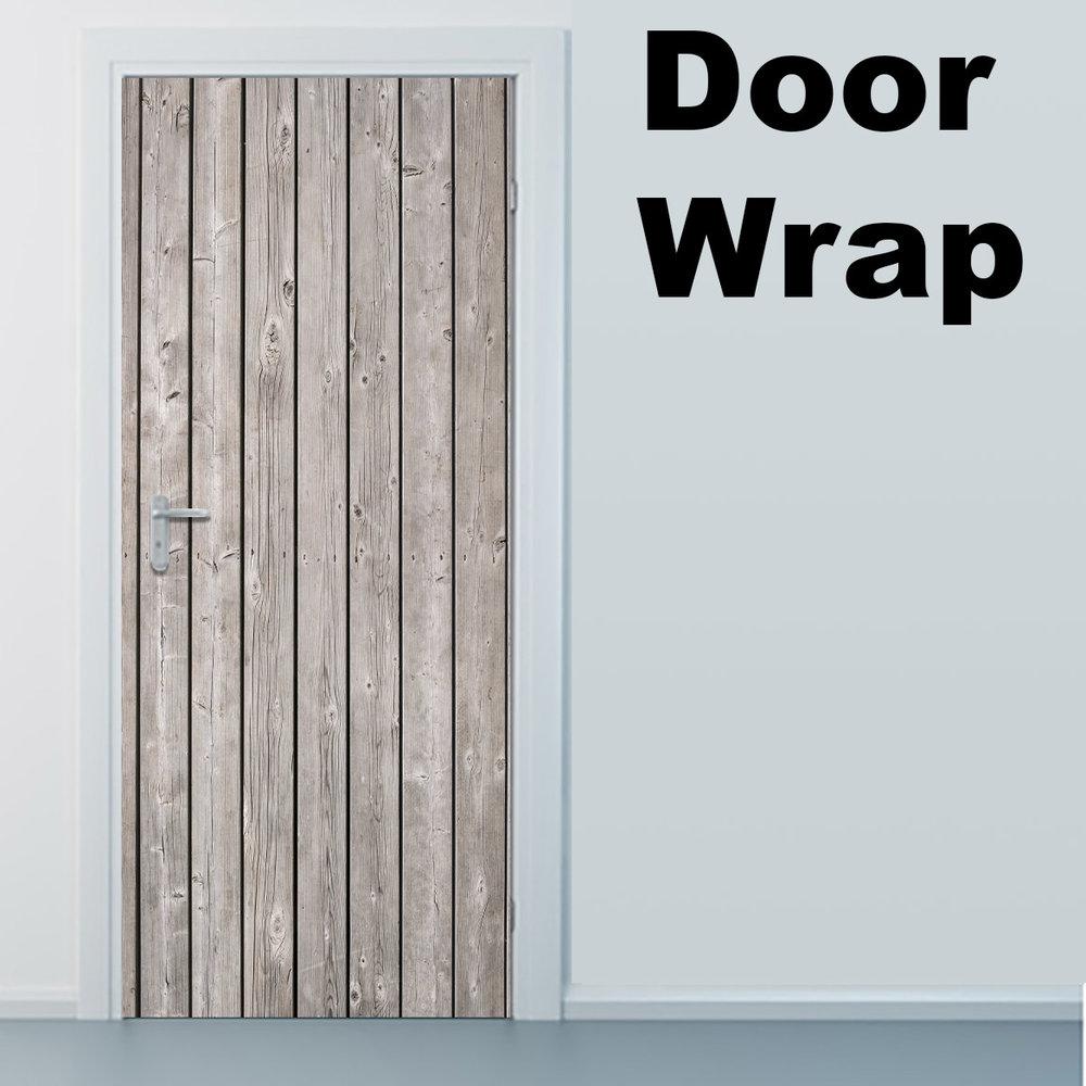 Wood Planks Door Wrap Rm Wraps