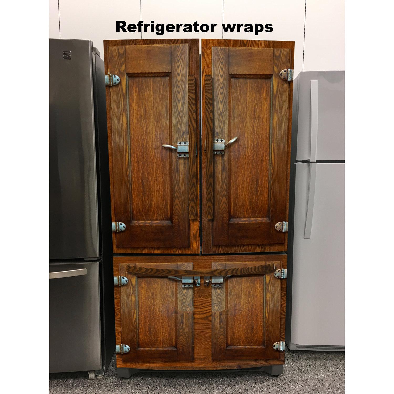 Door Wraps Icebox Vintage 3 Door Refrigerator Wrap Rm Wraps