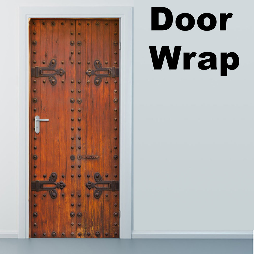 Wooden Castle Door Wrap