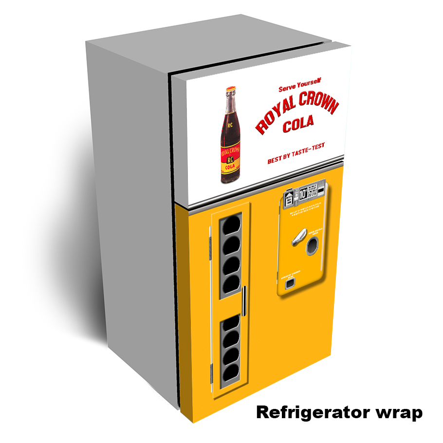 Rc Cola Vending Machine Refrigerator Wrap - 2 door