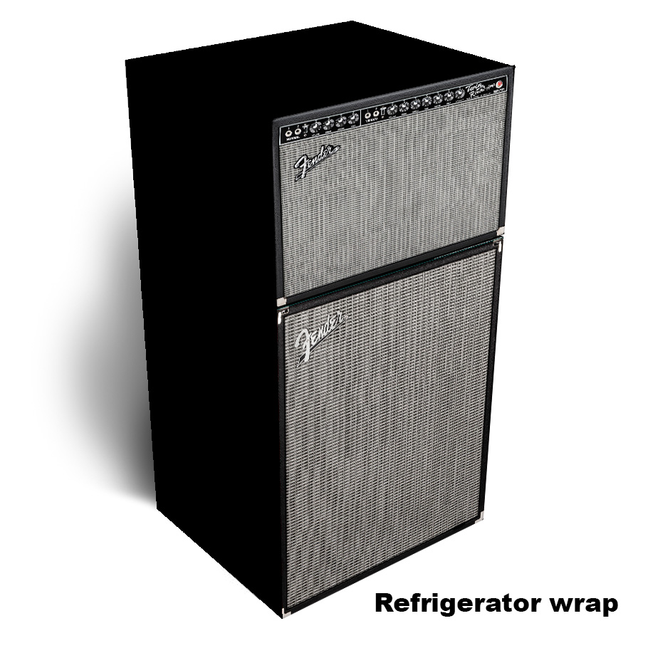 Fender Amp Refrigerator Wrap