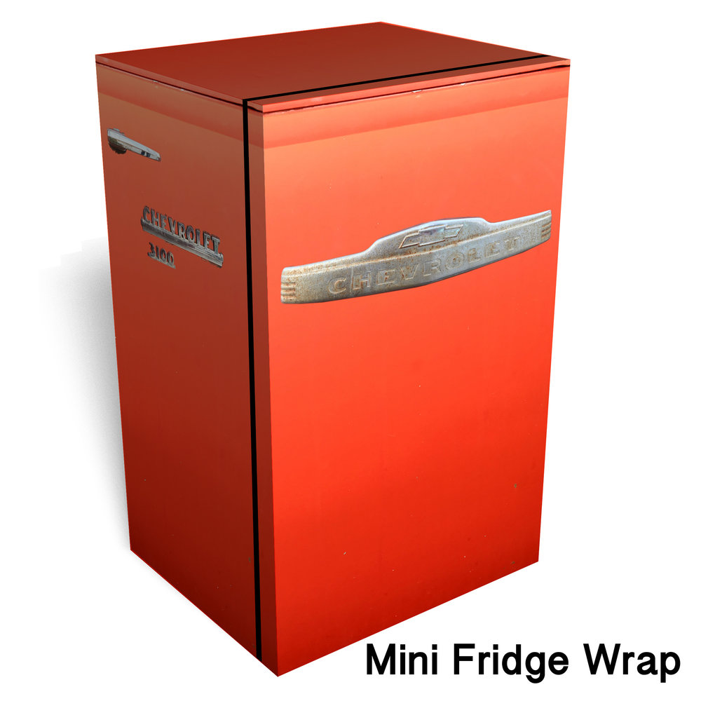 3100 Chevrolet Red Mini Fridge Wrap