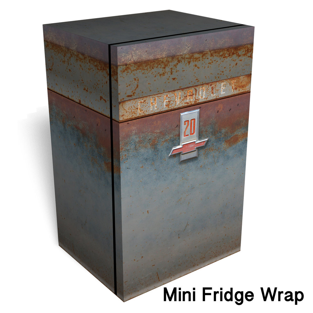 Rusty Chevrolet 20 Mini Fridge Wrap