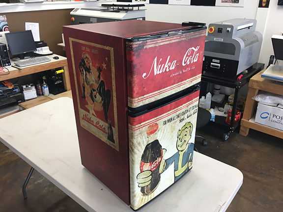 Full Wrap 2 Door Mini Fridge Wrap