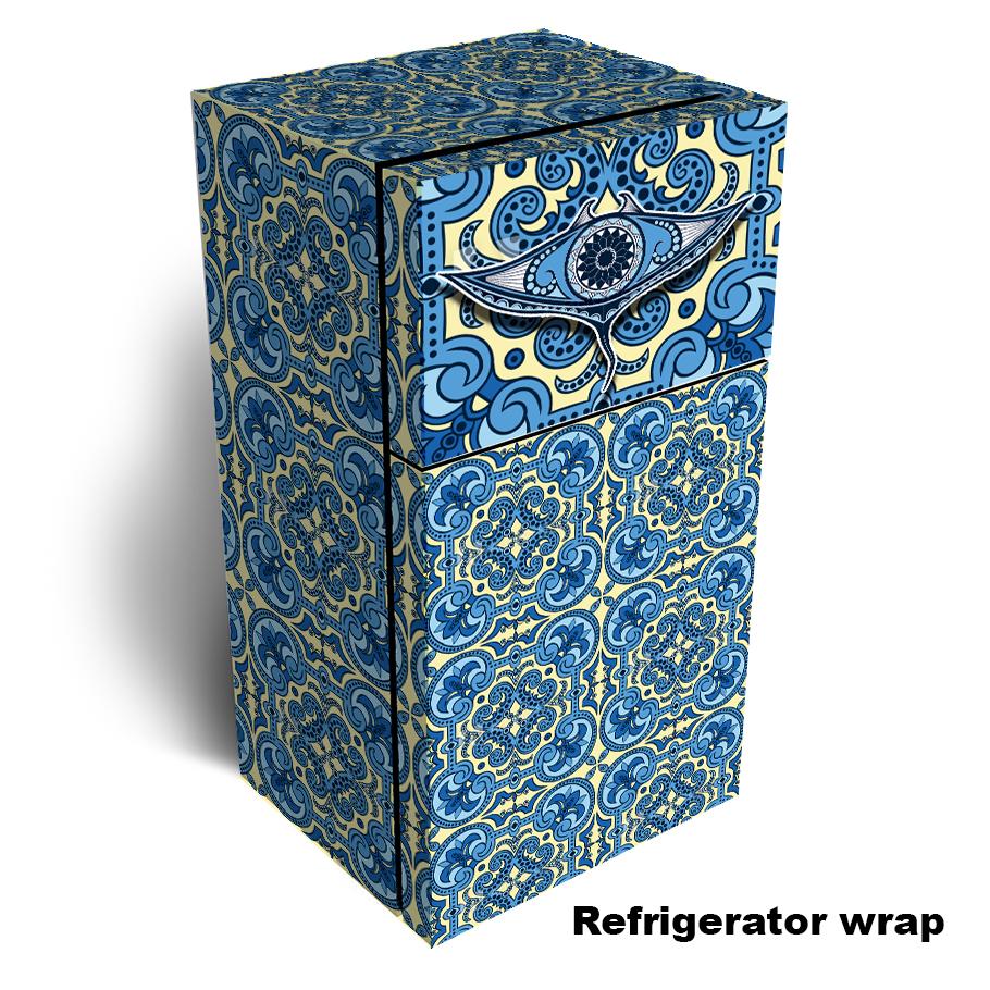Manta Ray Pattern Refrigerator Skin