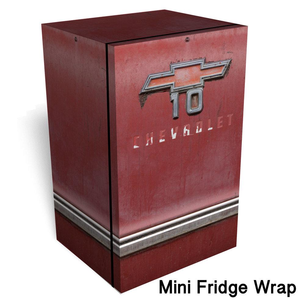Red Chevrolet 10 Mini Fridge Skin Rm Wraps